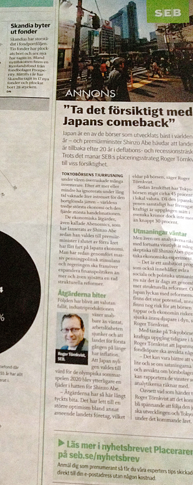SEB native advertising i DN (från www.joakimarhammar.se)