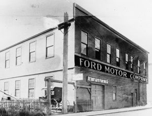 Ford Motor Company's fabrik på Mack Avenue i Detroit, Michigan, USA.